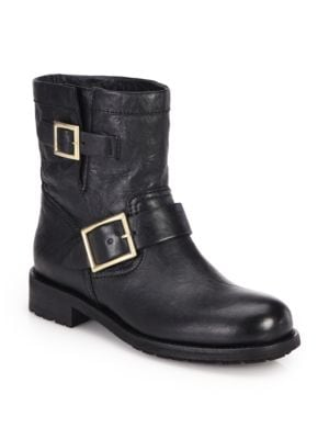 Jimmy Choo - Youth Leather Biker Boots - saks.c