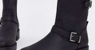 ASOS DESIGN August biker boots in black | AS