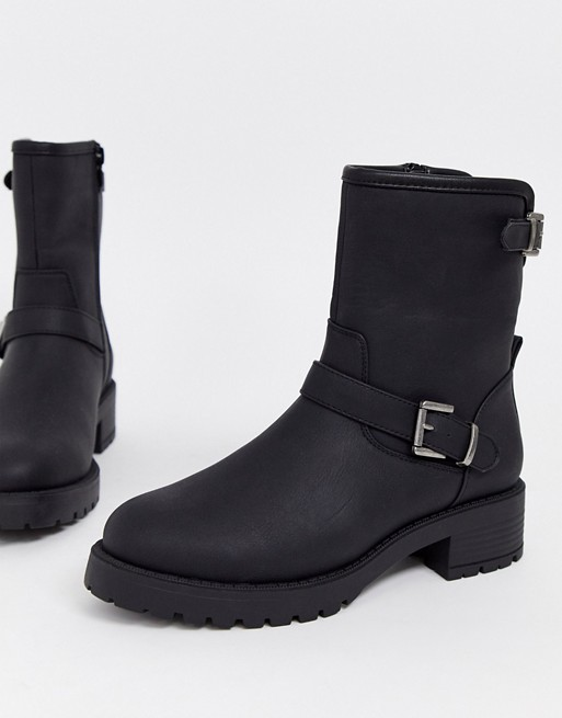ASOS DESIGN August biker boots in black | AS