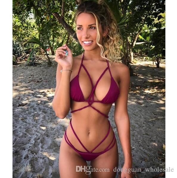 2020 Bikini Swimwear Swimsuit Women 18ss Brazilian Bikini Set Knot .