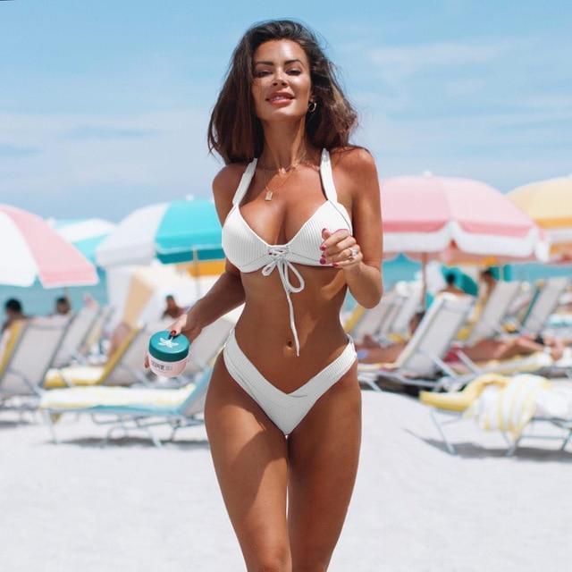 Sexy Bikini Swimwear Women Swimsuit Push Up Brazilian Bikini Set .