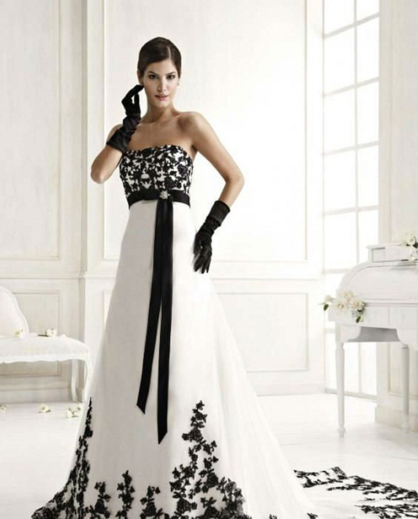 Black and White Wedding Dresses   Styles of Wedding Dress