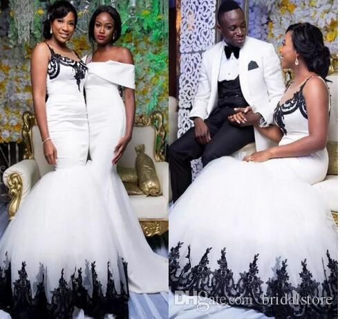 Discount Unique Black And White Mermaid Wedding Dresses South .