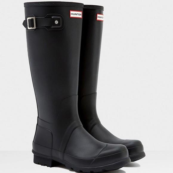 Hunter Shoes | Womens Tall Black Boots | Poshma