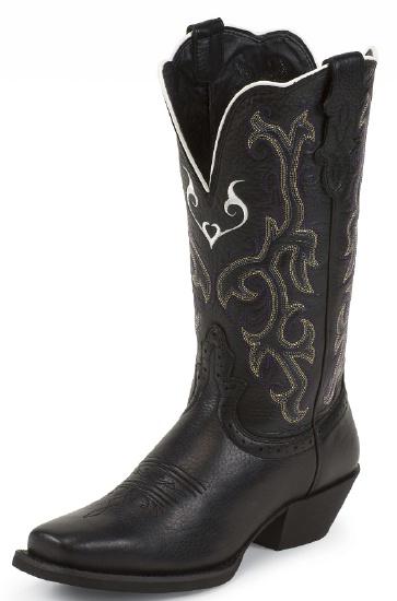 Justin L2554 Ladies Stampede Western Western Boot with Black .