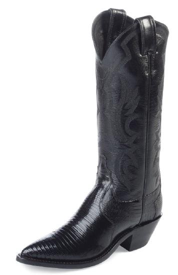 Justin L4786 Ladies Exotic Western Western Boot with Black Lizard .
