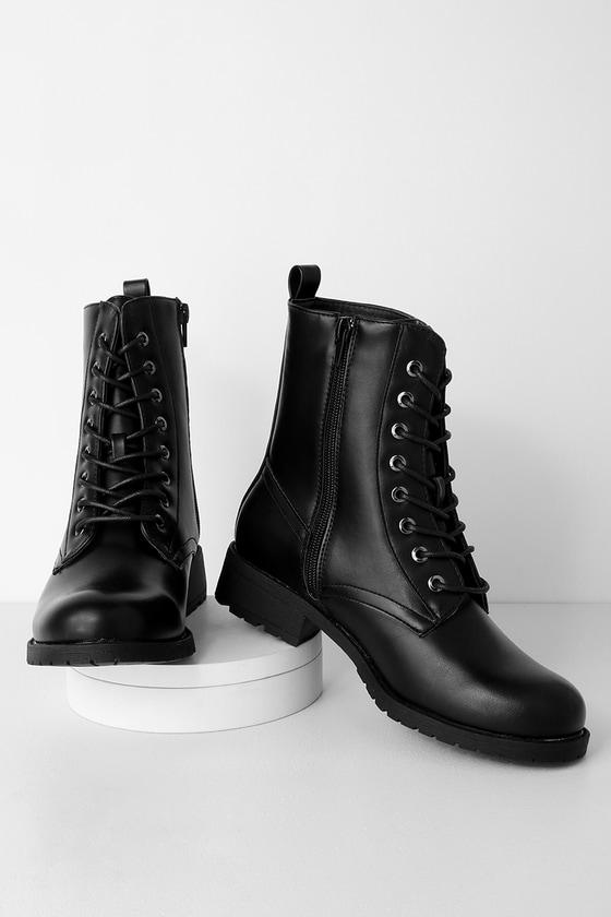 Cute Black Boots - Combat Boots - Black Combat Boo