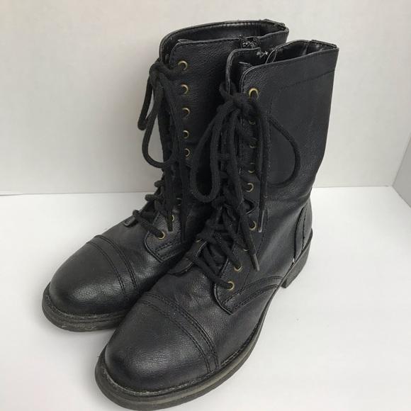 Kohl's Shoes | Kohls Black Combat Boots Size 8 M | Poshma