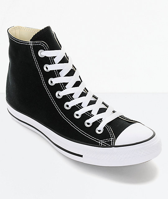 Converse Chuck Taylor All Star Black High Top Shoes   Zumi