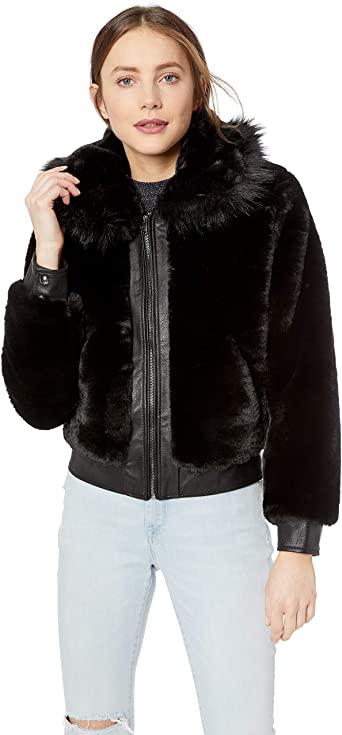 BLANKNYC] Women's Faux Fur Coat Outerwear at Amazon Women's Coats Sh