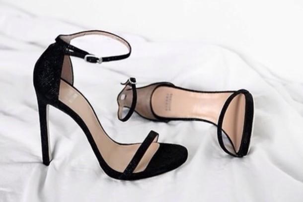 shoes, black, heels, cute, fashion, leather sandals, high heels .