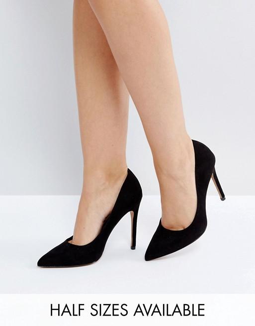 ASOS DESIGN Paris pointed high heeled pumps in black | AS
