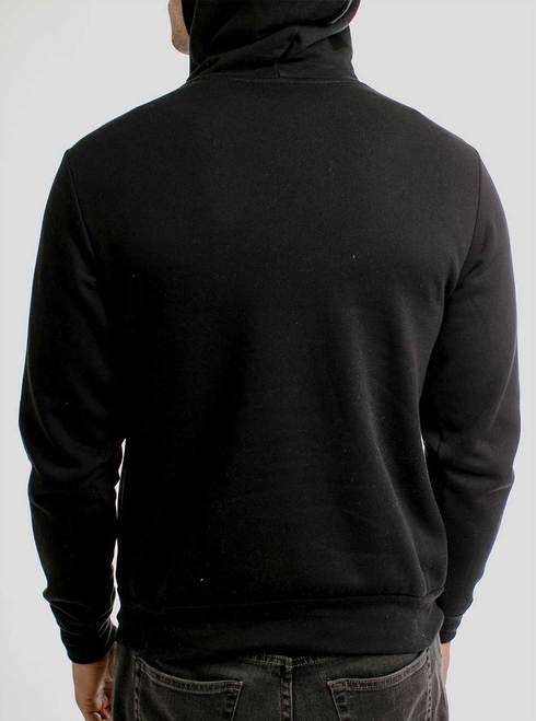 Durga - Multicolor on Black Men's Pullover Hoodie - Curbside Clothi