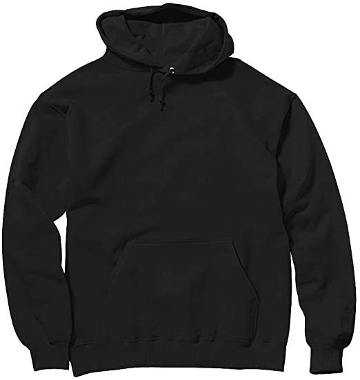 Ten Active Wear Plain Black Heavyweight Pullover Hoodie Blank .