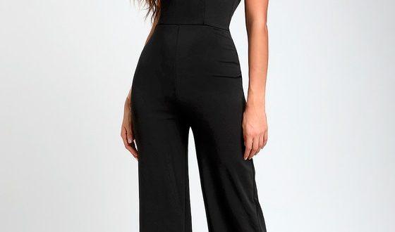 Chic Black Jumpsuit - Halter Jumpsuit - Wide-Leg Jumpsu