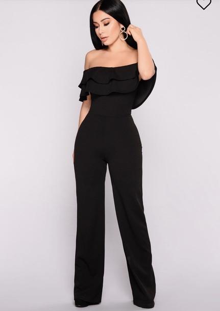 jumpsuit, jumpsui, black jumpsuit, black, dressy, formal - Wheretog
