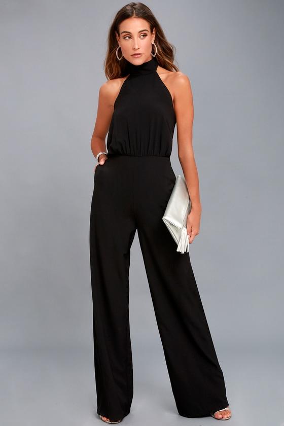 Moment for Life Black Halter Jumpsuit | Jumpsuit dressy, Black .