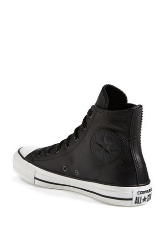 Leather Converse Chuck Taylors | Leather converse, Black leather .