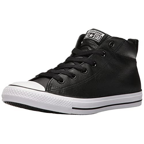 Black Leather Converse: Amazon.c