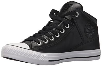 mens black leather converse - sochim.c
