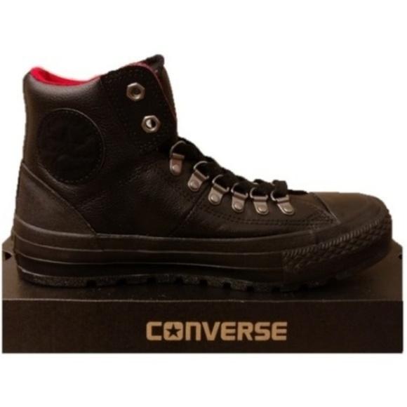Converse Shoes | Sz 115 Black Leather Street Hiker Boots | Poshma