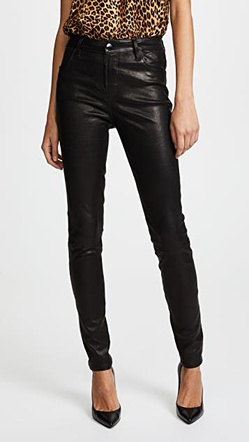 J Brand Maria High Rise Leather Pants | SHOPB