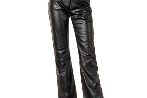 Black Leather Pants for Women customized fit Made in Florence .