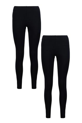 Buy F&F Black Leggings Two Pack from Next U