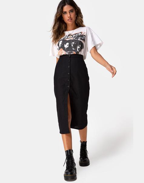 Kaisa Midi Skirt in Black by Motel – motelrocks.c