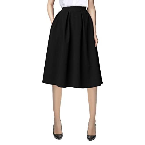 Black Midi Skirt: Amazon.c