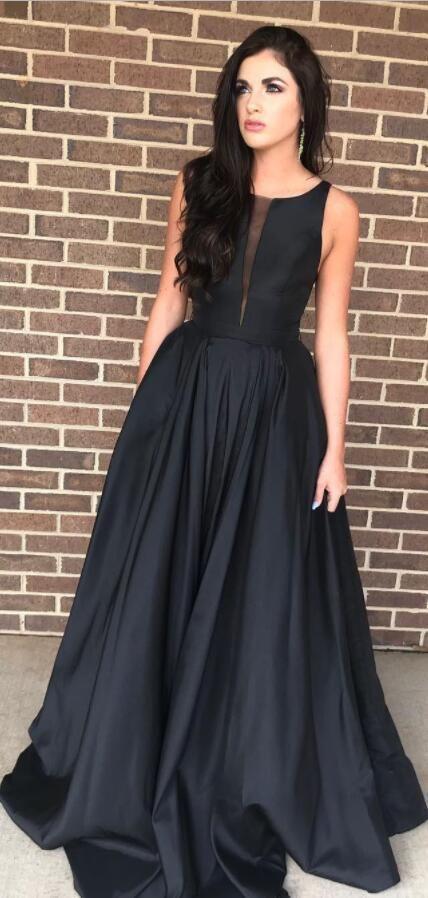 Eleagnt Black Long Prom Dress Party Dress | RosyPr