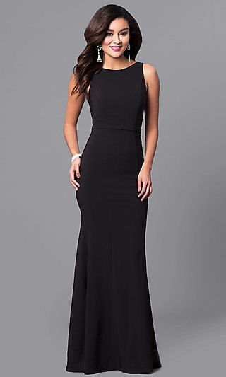Long Black High-Neck Prom Dress with Sequin V-Back in 2020 .