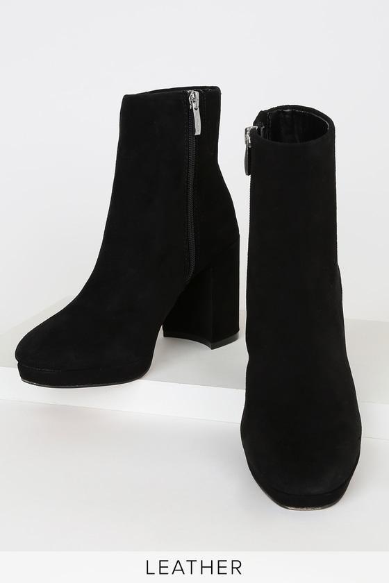 Steven by Steve Madden Vespa - Black Suede Boots - Platform Boo