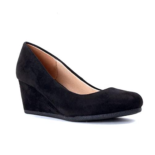 Women's Black Wedge Shoes: Amazon.c