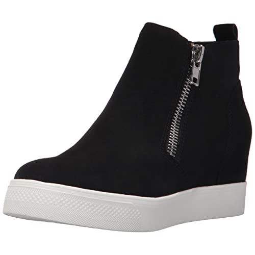 Women's Black Wedge Sneakers: Amazon.c
