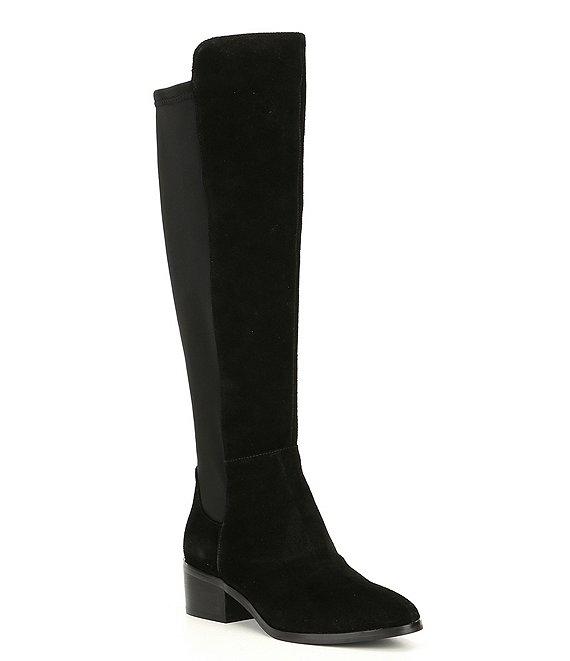 Blondo Gallo 50/50 Waterproof Suede Block Heel Boots | Dillard