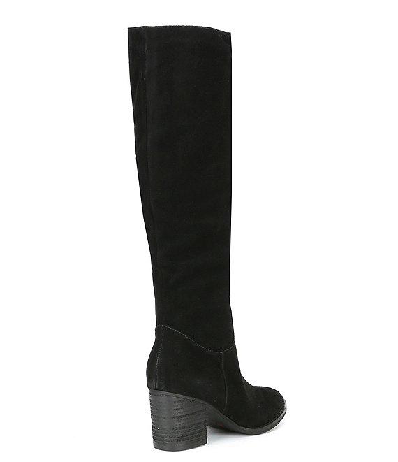Blondo Nadeen Waterproof Slouch Suede Tall Block Heel Boots .