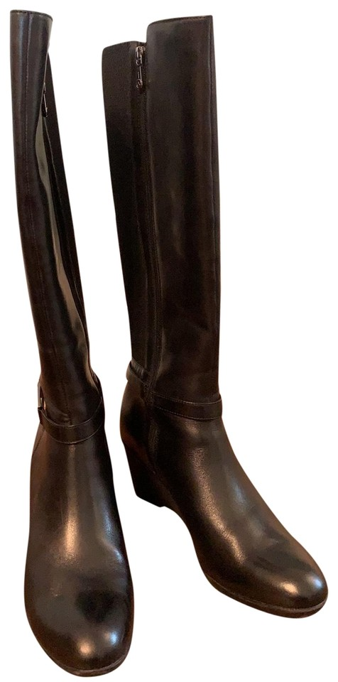 Blondo Black Waterproof Leather Boots/Booties Size EU 40 (Approx .