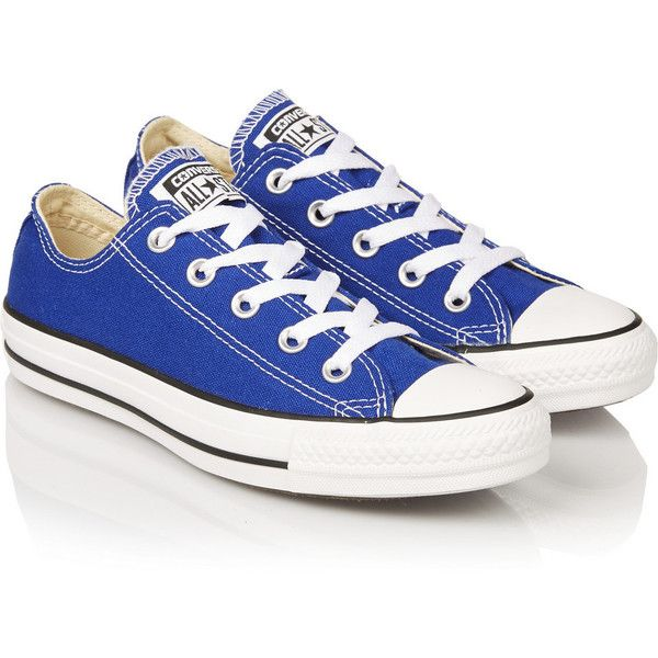 Converse Chuck Taylor canvas sneakers found on Polyvore | Blue .