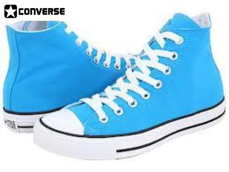 Converse Shoes High Tops Light Blue doublebarrelrecords.c