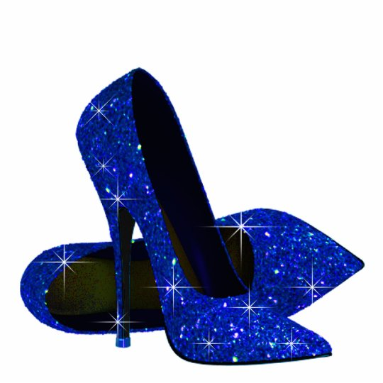 Elegant Royal Blue High Heel Shoes Statuette | Zazzle.c