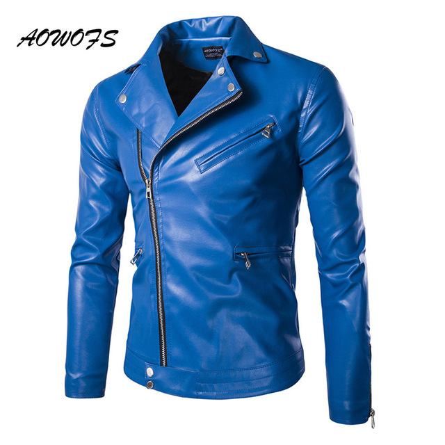 Leather jacket in blue – a new trend for the wardrobe – ChoosMeinSty