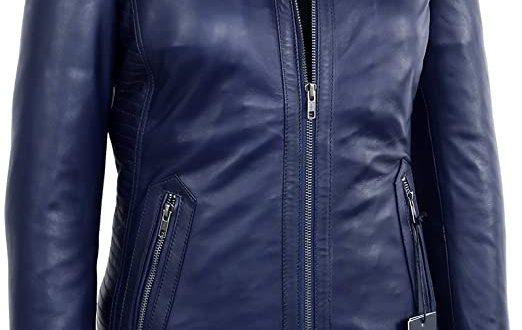 Corbani Genuine Womens Midnight Blue Collarless Lambskin Real .