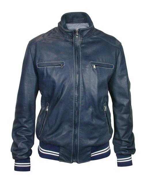 Blue Leather Jackets - Shop Designer Leather Jackets Clothes Onli