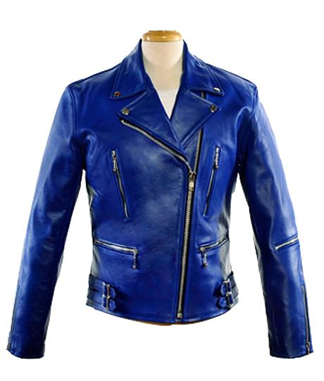 Electra Blue Leather Jacket - Leather4sure Leather Jacke
