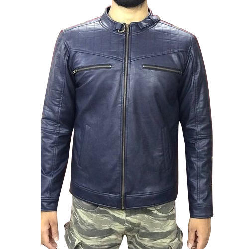 Pu Leather Blue Mens Leather Jacket, Rs 2500 /piece .