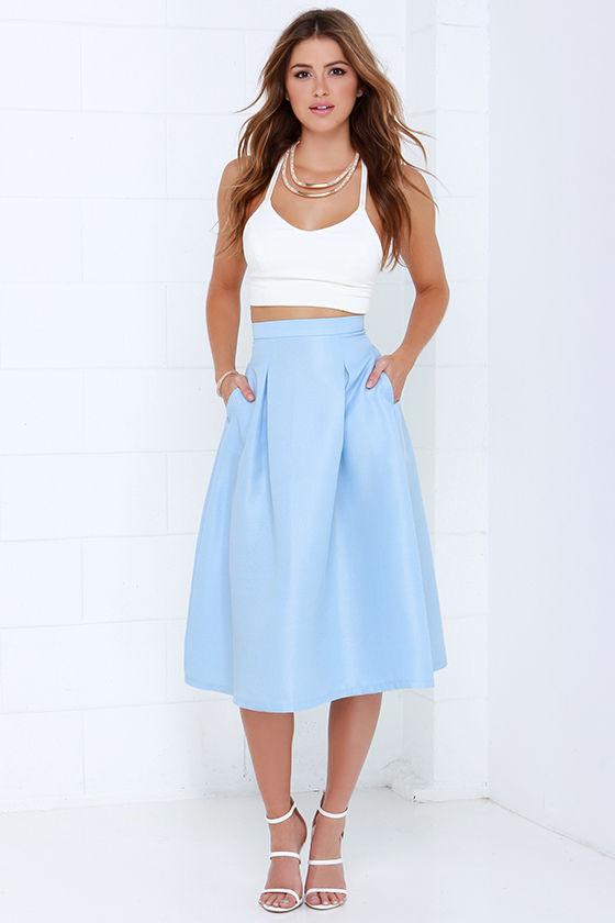 light blue full skirt - Kumpalo.parkersydnorhistoric.o