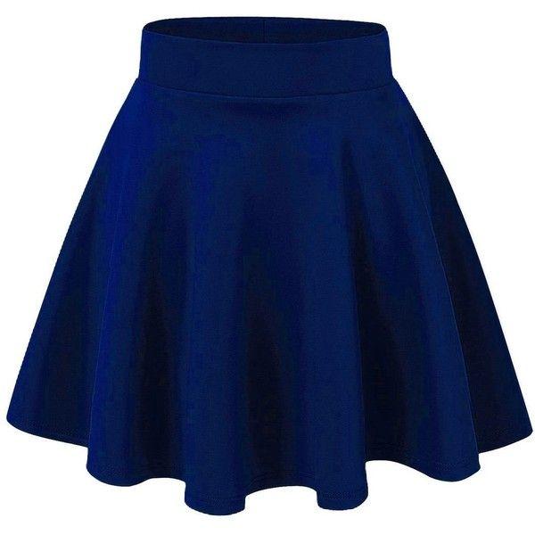 LaGirl Stretchy Flared Skater Skirt ($7.90) ❤ liked on Polyvore .