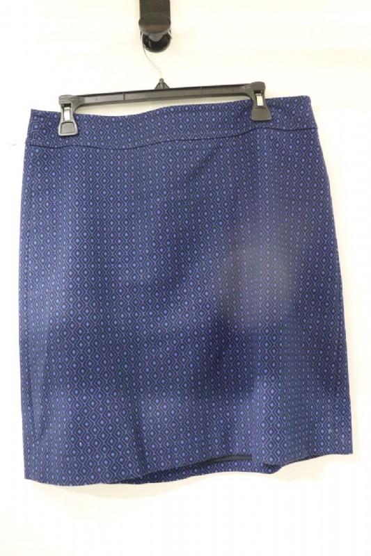 Talbots Petites Black & Blue Skirt Sz 10p - shopgoodwill.c