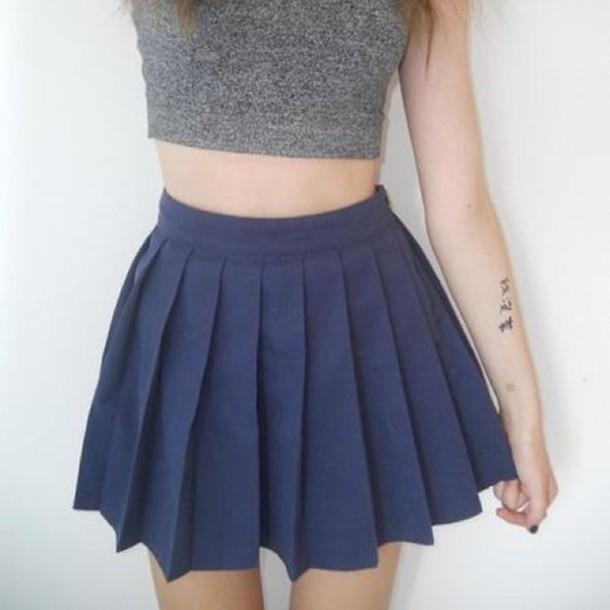 skirt, mini skirt, blue, pleated skirt, kawaii, pleated, navy .